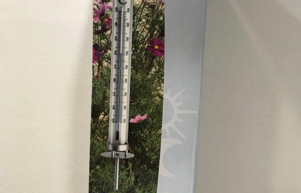 Termómetro de jardín Solar