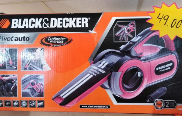 Aspirador para coche Black and Decker PAV1205